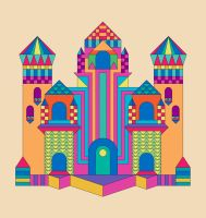 Castle of bricks and vector by AbsurdWordPreferred