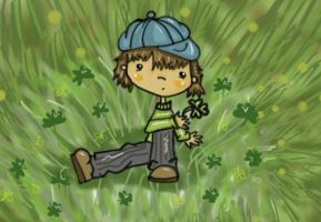 Picking Clovers by jdDoodles