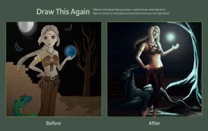 Draw this again | The Sorceress by Nebride