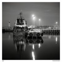 Fishing port at night by Maciej-Koniuszy