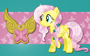 Crystal Fluttershy WP 2 by AliceHumanSacrifice0