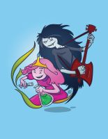 Marceline and Princess Bubblegum! by Splittingadams