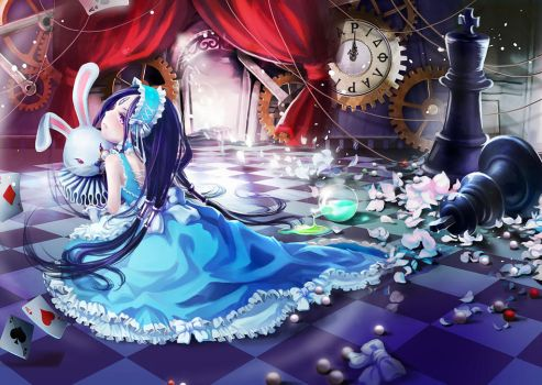 Thanatos in Alice World by Ginger-J