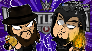 Bray Wyatt x The Undertaker WM31 Chibi Wallpaper by kapaeme
