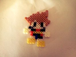 Sora Kingdom Hearts 2 - Perler Beads by RonyeryX