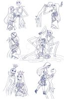 Jack and Sally Sketches by Redhead-K