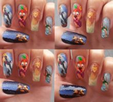 The Lion King nail art by amanda04