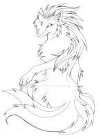 Ninetails- Lineart by Pii-wing