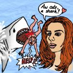 Sharkartoon Self Portrait by Serpentrinity