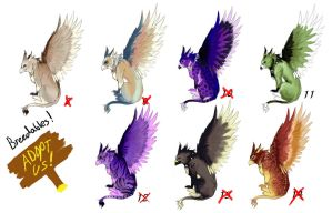 Griffin Adopts + Breedables 2 OPEN 1 left by AeternaAdoptables