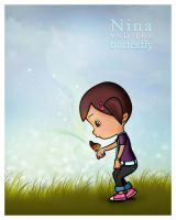 Nina and the butterfly by ovarbaic