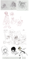 Sketchdump May09 by cindre