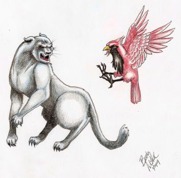 Panthers vs. Cardinals by MaryOfExeter