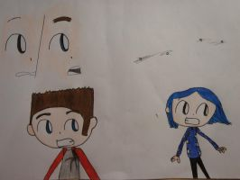 First Colour attempt: Norman and Coraline by MaiMaiLim