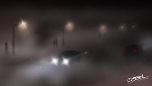 Night drive - airbrushing fun by camaro1