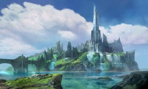 Fantasy City Concept- Rise to the Throne by atomhawk