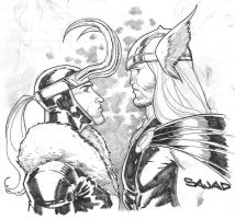 THOR vs LOKI by Sajad126