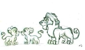 My Little Lion King Sketches by wahyawolf