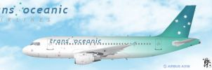 Trans Oceanic Airlines A319 by Denodon