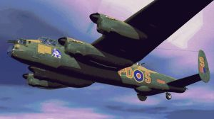 Lancaster Bomber Plane Paint By Number Art Kit by numberedart