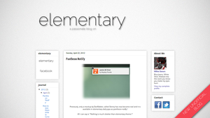 elementary blog - passionate and unofficial by cocooh