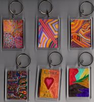 Six Key Fobs side two by Clangston