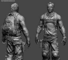 Mercenary for hire WIP sculpt by konginchains
