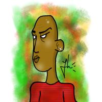 Quick Cartoon Sketch of a Guy by jaSz2006