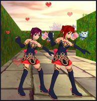 Dancing Twins by Avaly