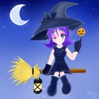 Little Witch Halloween by RuiNami