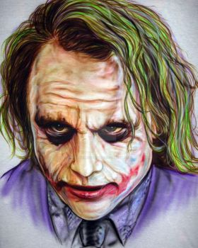 The Joker by iPaintAirbrushStudio