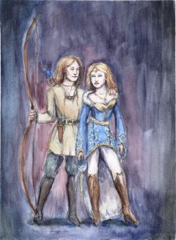 Aino and Lemminkainen by lAhlbeck