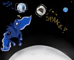 In space no one can hear you...SPAAAAAAAAACE by Blackmell