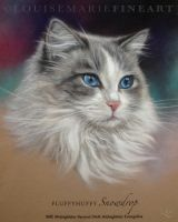 FluffyHuffy Snowdrop by LouiseMarieFineArt