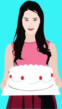 Yoona with cake by inessa0215
