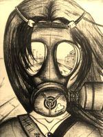 Gasmask road by TVGJOSHI