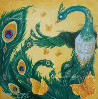 EBAY AUCTION - Green Phoenix of Peace by JenniferAnneEsposito
