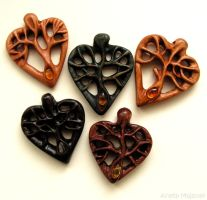 Hearts - tree of life by AmberSculpture