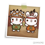 Abe and Abby the Rioter Bunnies by SquidPig