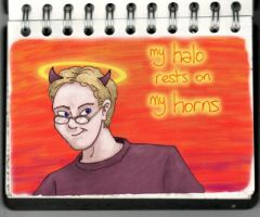 My Halo Rests on My Horns... by cinnamonjames