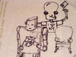 Robo Fellas by themusicstopped by Robot-drawing-club
