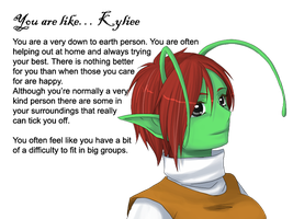 -Kyliee personality test- by Namekgirl