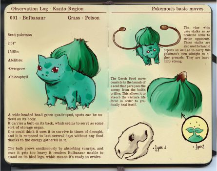 Observation Log - Bulbasaur by SuperMandarine