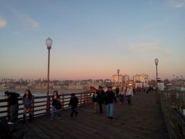 It was just about sunset and all through the Pier by KeireiChan