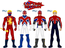 Captain Britain Costumes by MetalLion1888