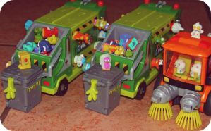 Trash-pack Trash Trucks by SnapColorCreations