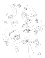Anime Eye and hand Study by JetEffects