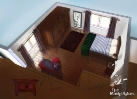 Bedroom Concept art by Vatsel