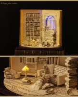 Book sculpture The Paper House... by AnemyaPhotoCreations