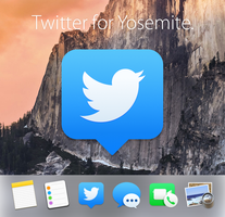 Twitter Icon Replacement (OS X Yosemite) by X-X-L